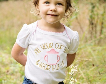 Tear it Up Sippy Cup Embroidered Shirt or Bodysuit