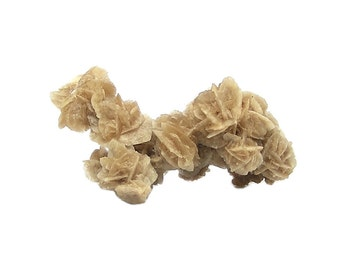 Gypsum Selenite Desert Rose Crystal Sand Included Gypsum crystals Home Decor Display Mineral Specimen, Natural Geology Earth Sample Mexican