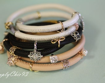 Tan Magnetic Clasp Leather Bracelet-Beige Bracelet-Double Wrap Bracelet-Charm Leather Bracelet-Boho Bracelet-Christian Jewelry- Multi Wrap