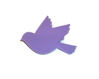 Turtle Dove Brooch Pastel Bird Pin Lilac Lavender Quirky Accessory Kitsch Pastel