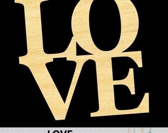 LOVE Scroll Saw Pattern