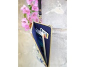 Triangle geometric phone case with leather strap