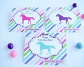 Unicorn Valentines Cards girl preschool school printable pdf