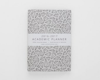 2016-2017 academic WEEKLY PLANNER small / minimalist geometric planner