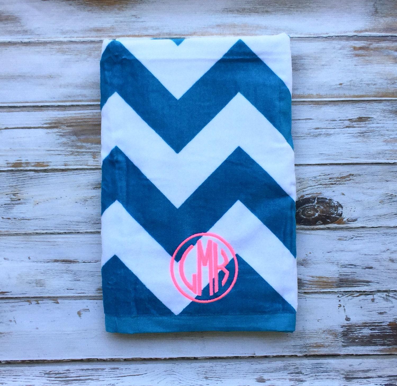 Monogrammed Beach Towels Monogram Beach Towel By