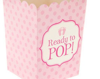 She's About to Pop Baby Shower Theme; Girl's Baby Shower Favor Boxes; Ready to Pop Favor Popcorn Boxes; Unique Shower Favors;