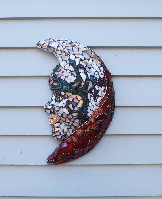 Lady Glass Mask Goddess Mosaic Garden Mosaic Patio Decor