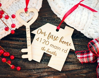 Our First House Ornament, Our First Home Ornament, First Christmas in our New Home Ornament, New House Client Ornament, Housewarming Gift