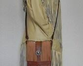 Dark Tan Prairie Leather Lucchese Cowboy Boot Top Clutch Handbag