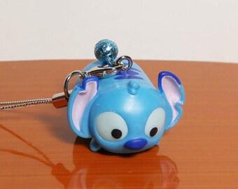 Tsum Tsum Disney Stitch Phone Charm Strap Keychain with Bell