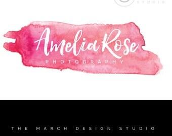Photography Logo - Watercolor Logo - Premade Logo - Digital Logo - Business Logo -
