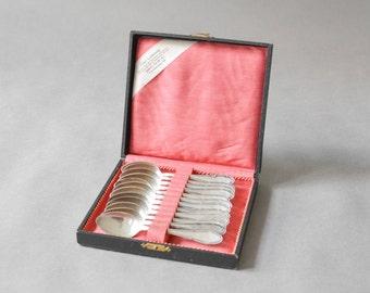 Vintage silverware silver cutlery nickel silver new silver alpacca spoons dinner table wedding