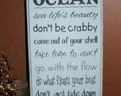 Wisdom from the Ocean Sign Board