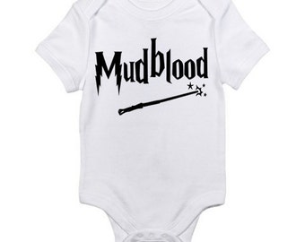 Harry Potter Inspired Baby Onesie / Mudblood  Onesie / Harry Potter Bodysuit / Harry Potter Baby Shower Gift / Harry Potter Nursery