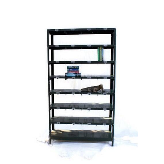 vintage locker basket shelving unit industrial furniture. Black Bedroom Furniture Sets. Home Design Ideas