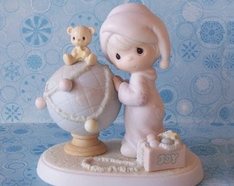 """SALE Precious Moments """"May Your World Be Trimmed With Joy"""""""