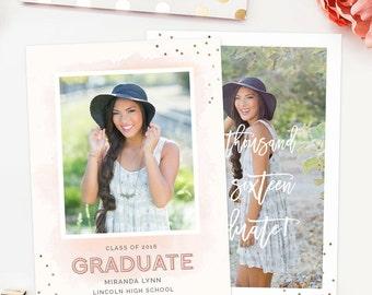 Senior Graduation Template, Senior Graduation Announcement Templates, Senior Templates, Photography Templates - GD154