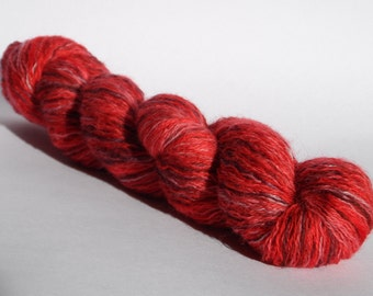SALE Cherry Berry Wool Lace Yarn 20g