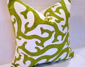 P Kaufmann Contemporary Green & White  Pillow Covers