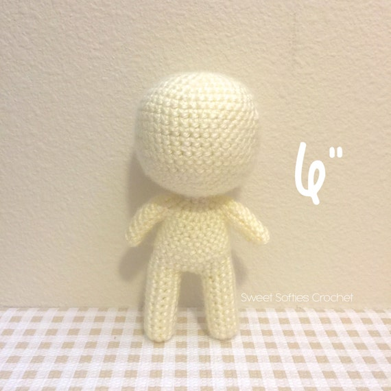 Amigurumi Chibi Doll Pattern Free : 6 Chibi Doll Base Amigurumi Crochet Pattern for Custom by ...