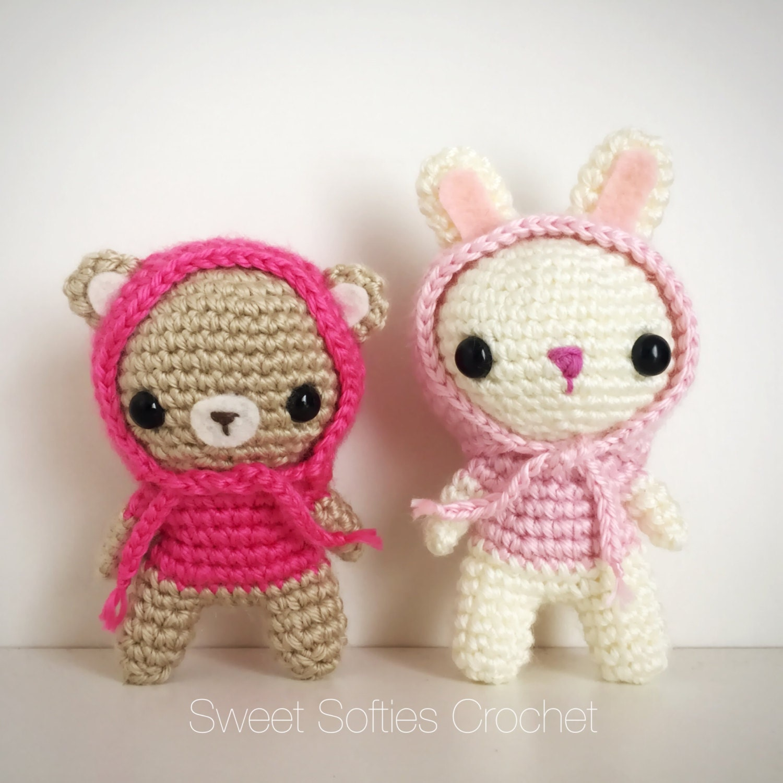 Amigurumi Crochet Definition : 2-PATTERN PACK Amigurumi Crochet Bunny Rabbit & Teddy Bear
