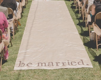 be married. Stencil for Wedding Aisle Runner or Sign, Lettering Template