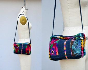 Vintage Wool KILIM Bag - Small Woven Wool Bag - Kilim Bag - Embroidered Bag - Floral Bag - Floral Embroidered Bag - Ethnic Boho Gypsy Hippie