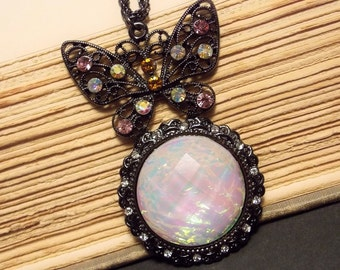 Butterfly Opal Pendant - 2 Colors Available