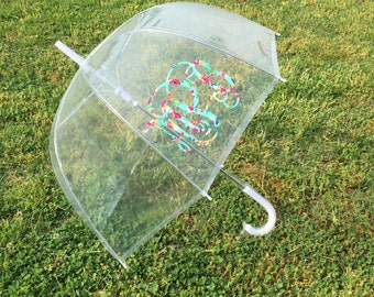 Ships Free! Monogram Umbrella, Clear Umbrella, Bubble Umbrella, Wedding Umbrella, Personalized Umbrella, Rain Umbrella