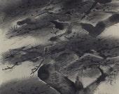 Japanese Fine Art Hanging Scroll Painting Pine Tree Kakejiku -1505071