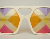 Vtg Sir Winston Eyewear 101 Sunglasses Optical Square Eyeglasses Frames England Collectible Iconic Elton John Tribute Artist Impersonator