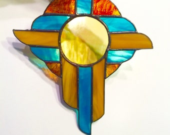 Southwest Cross Stained Glass Suncatcher