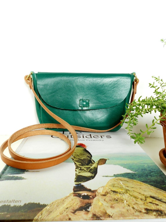 hermes purses prices - Kelly Green Leather Purse with Vegetable by TheLewisKingsleyCo