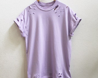 Distressed Orchid Purple Unisex Shirt S-5XL