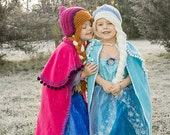 Anna and Elsa Hat - Frozen inspired hats - Frozen Anna Hat - Frozen Elsa Hat