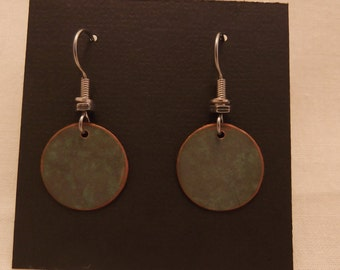 Round copper patina