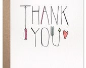 Arrow Thank You Card