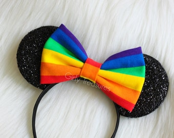 Rainbow Mouse Ears Headband. Mouse Ears Headband. Womens Headband. Teen Headband. Disney Headband. Pride Mouse Headband. One Size Fits Most.