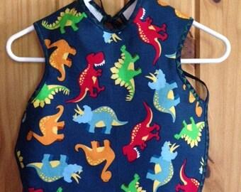 Dinosaur Bapron - Ready to ship- T-Rex, Waterproof Bib, Toddler Bib, Baby Bib, Animals, Prehistoric