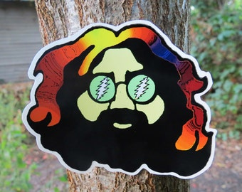 Jerry Garcia Head Grateful Dead Autumn Series High Quality Vinyl Sticker
