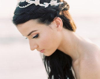 Bridal Hair Accessory. Bridal Hair Piece. Bridal Boho Halo {Millie}