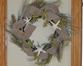 Wreath Beach Wreath Burlap Succulents Ferns Grass Starfish Beach
