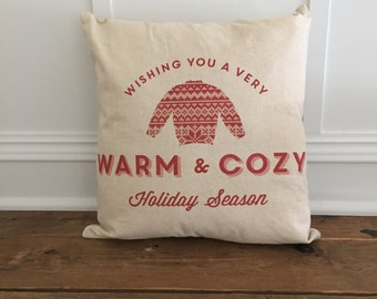 Warm & Cozy Sweater Pillow Cover