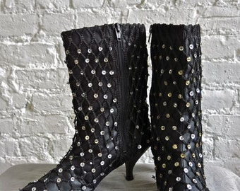 1985 Iconic Madonna Boots from Desperately Seeking Susan - Size 7.5 / 8 - NEW OLD STOCK