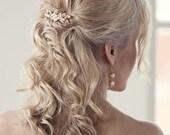 Pearl comb Bridal hair comb Bridal comb Pearl hair comb Wedding hair comb Wedding comb Hair accessories Bridal pearl comb Greek comb **K005*