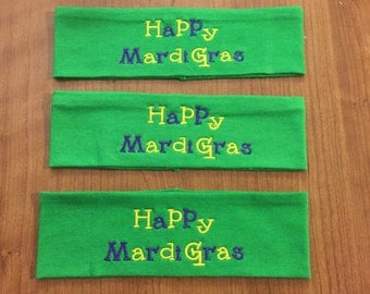 3 Mardi Gras Headbands, Mardi Gras Accessories, Mardi Gras Party, Mardi Gras Gifts, Girls Night Out, Party Favors, Mardi Gras Favors