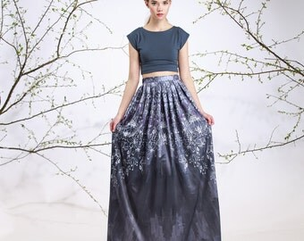 Silver Dew - maxi skirt