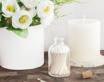 Classic White Matchstick Jar™. White matches. Colored matches. Long matches. Stocking Stuffer. Gifts for her. Hostess gift. Home decor.