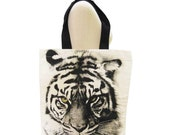 Tiger Bag Tiger Canvas Bag Animal Bag Shopping Bag Screen Print