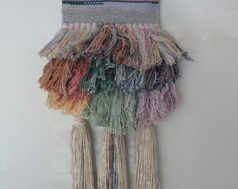 Vintage Weaving Fiber Art Wall Hanging
